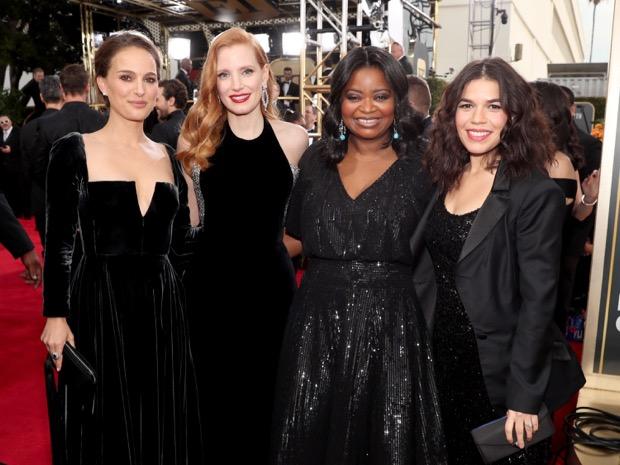 celebrity golden globes 2018