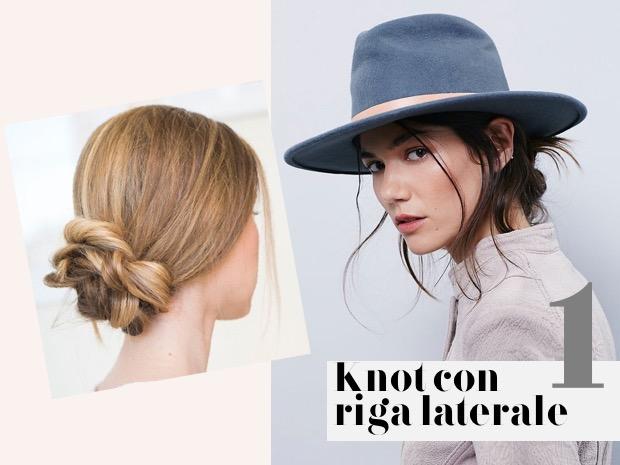 capelli lunghi chignon laterale