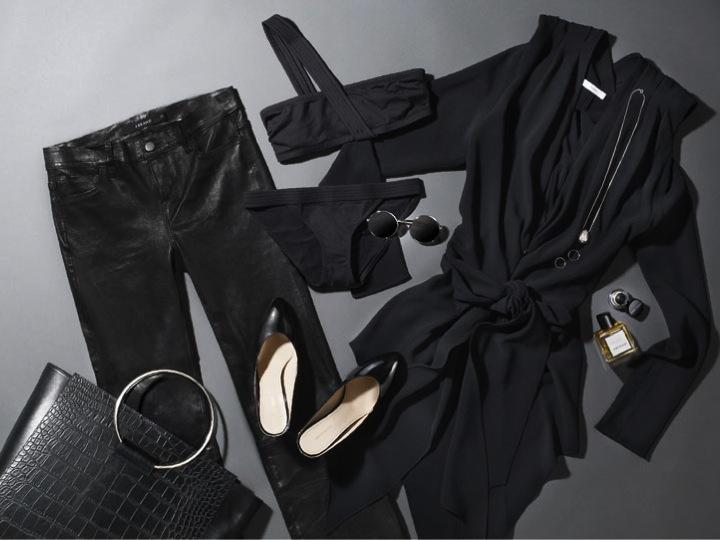 trucco abito nero