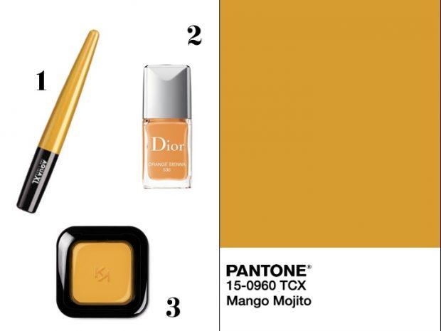 makeup giallo mango smalto
