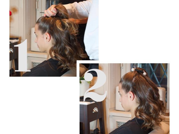 acconciatura capelli perle
