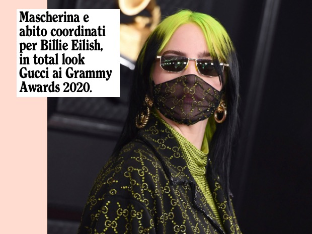 Billie Eilish mascherina
