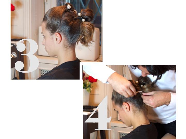capelli raccolti perle