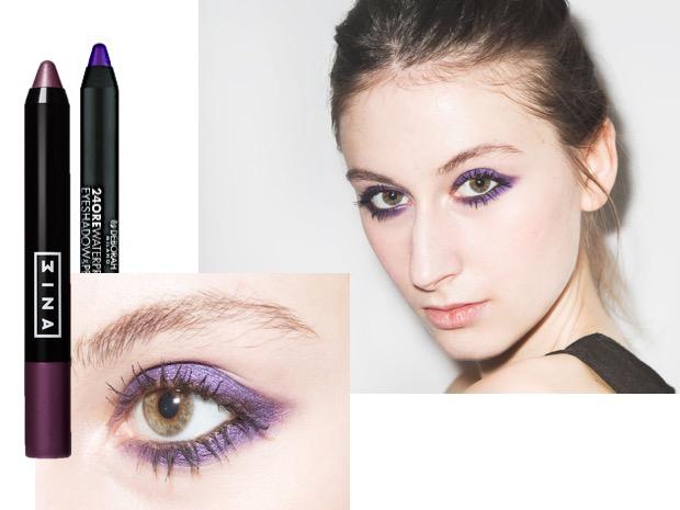 matita viola occhi