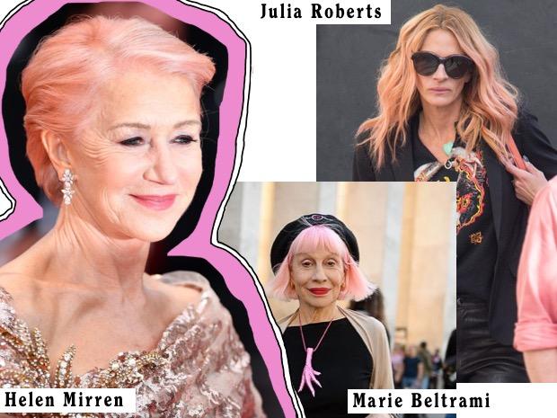 julia roberts capelli rosa