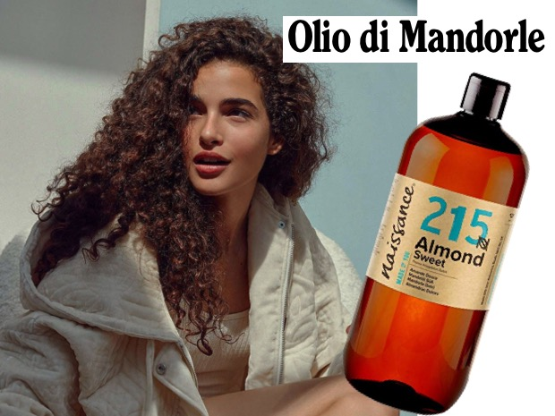 olio mandorle capelli ricci