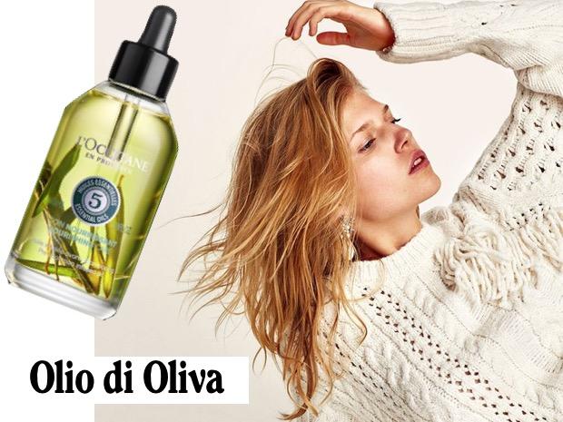 Olio oliva capelli sfibrati