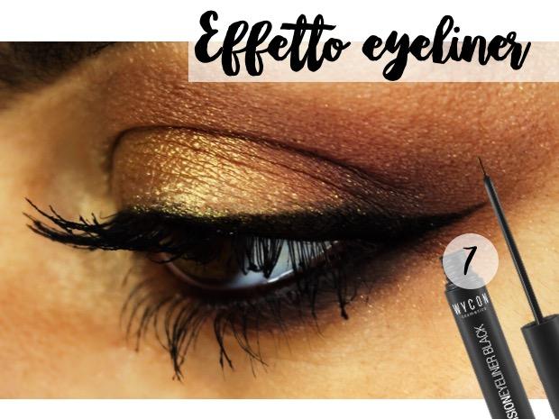 eyeliner nero e oro