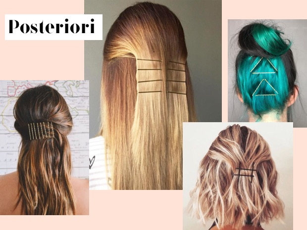 acconciature capelli lunghi con mollette