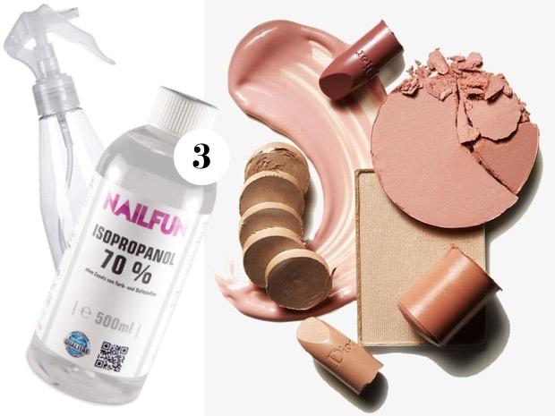 Come disinfettare prodotti makeup
