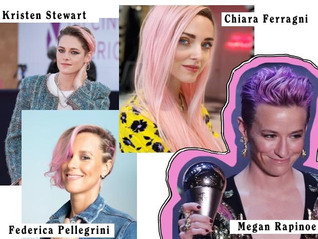 chiara ferrigni capelli rosa