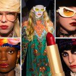Gucci Cruise 2020: il rossetto va… ovunque!
