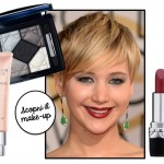 Copia il trucco: Jennifer Lawrence ai Golden Globes 2014