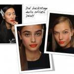 Trend alert: labbra orange come da DKNY