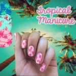 Tropical manicure ultrafacile con i nail-wrap Made in California