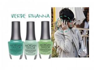 Emerald manicure come Rihanna